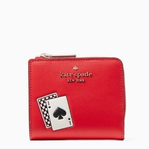 NWT Kate Spade Lucky Draw No Window L-Zip Wallet